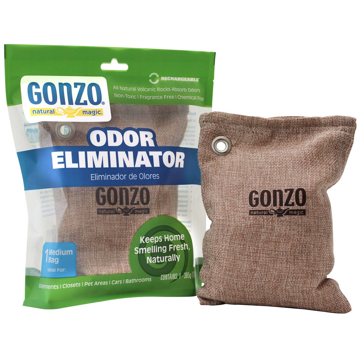 Odor eliminator burlap bag