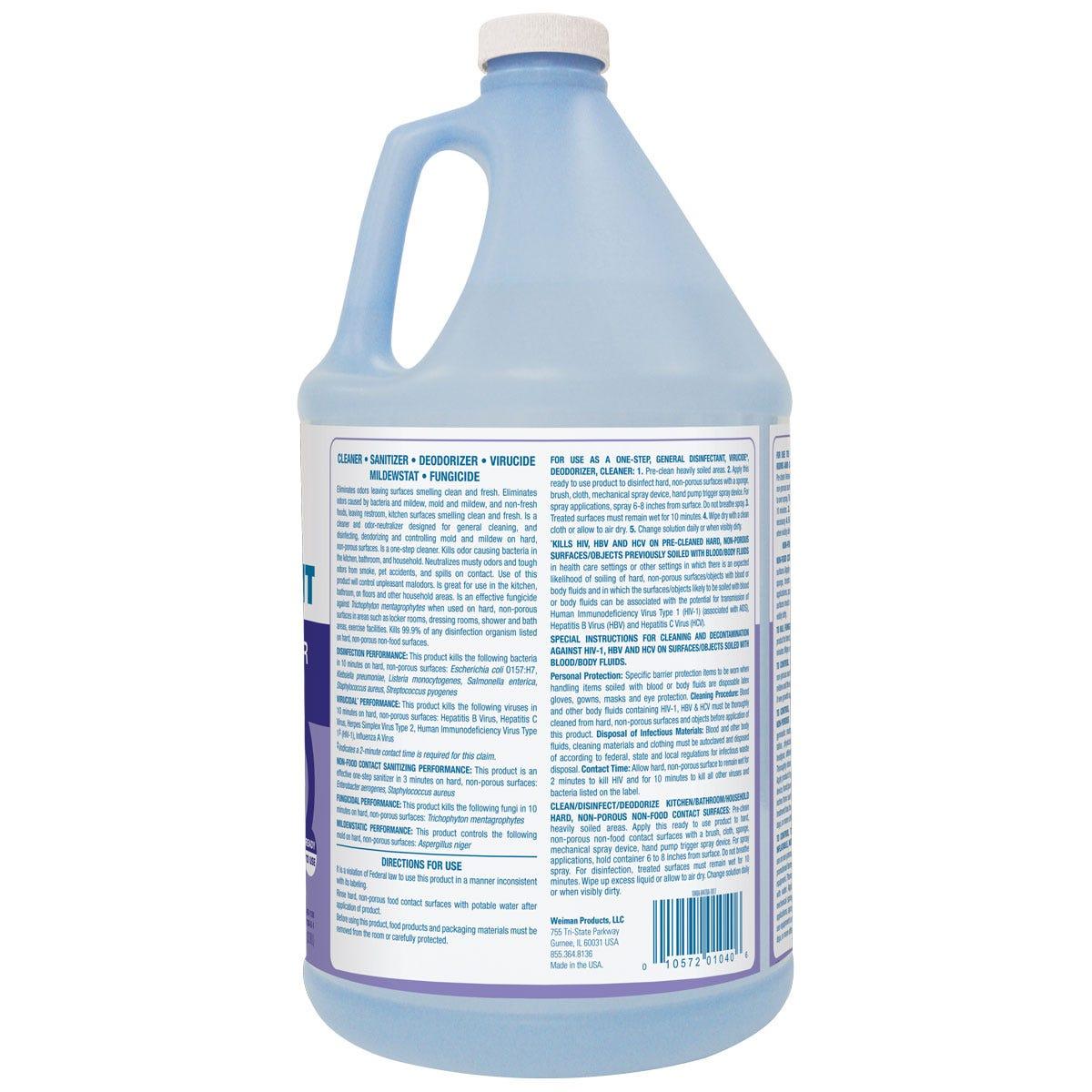 Lavender odor eliminator back label