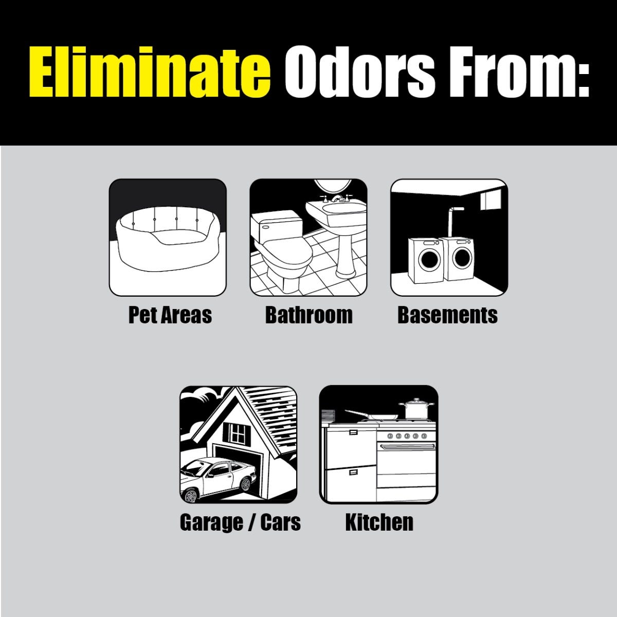 Places to use pet odor eliminating rocks