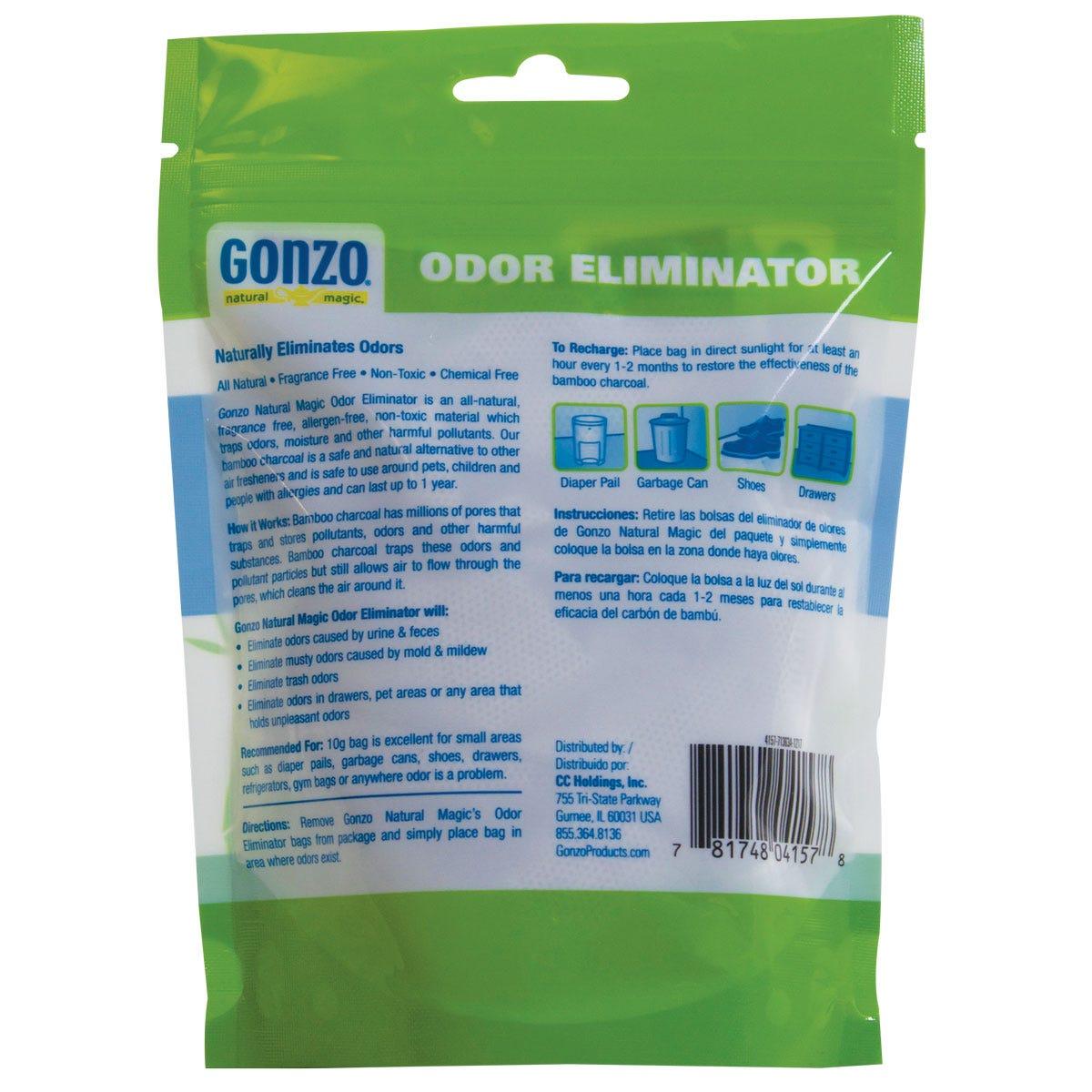 Shoe odor eliminator back label