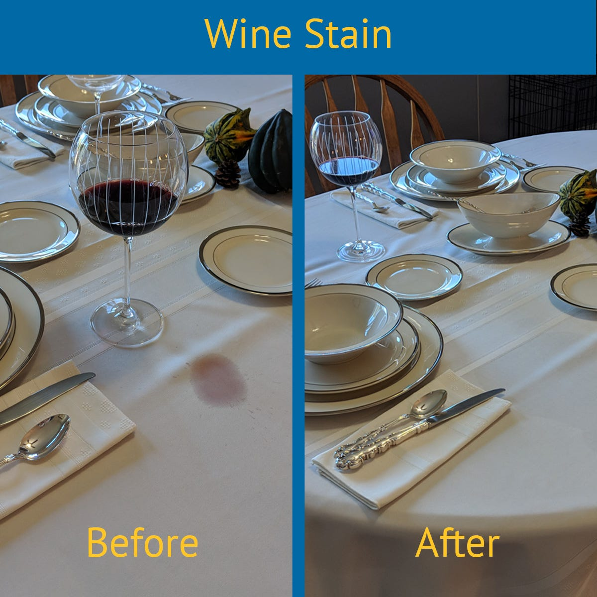 Wine Stain Before & After