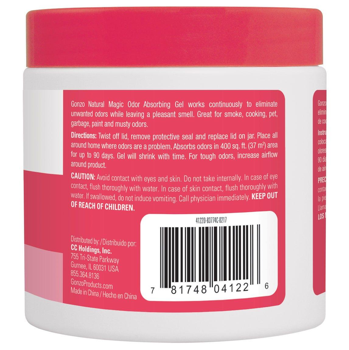 Tropical Fragrance Odor Absorber back label